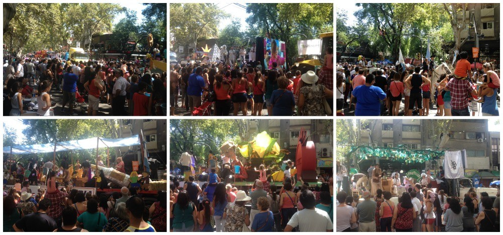 Parade of the queens and other festival floats for Vendimia 2015 in Mendoza