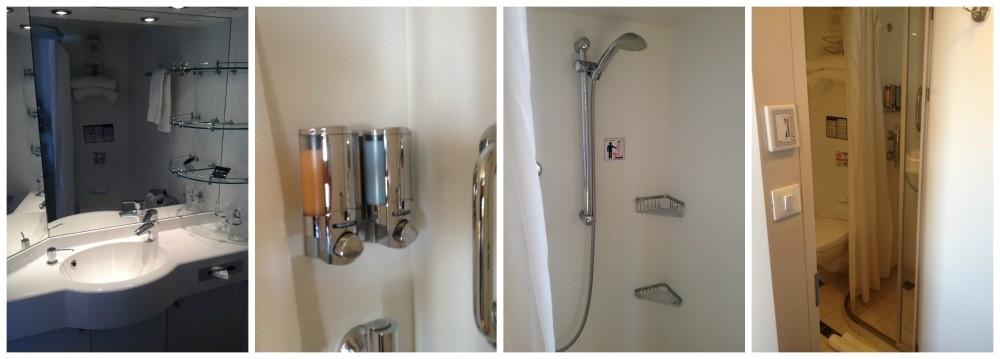 Bathroom of cabin #9027 on MSC Magnifica