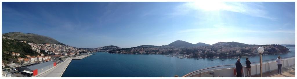 Departing the port of Dubrovnik