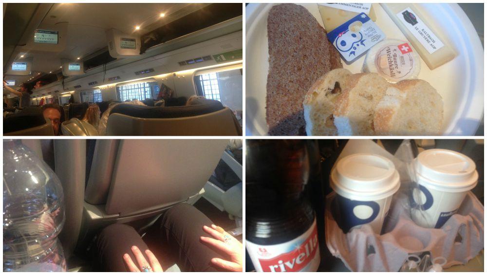 Inside the EuroCity 56 train to Bern