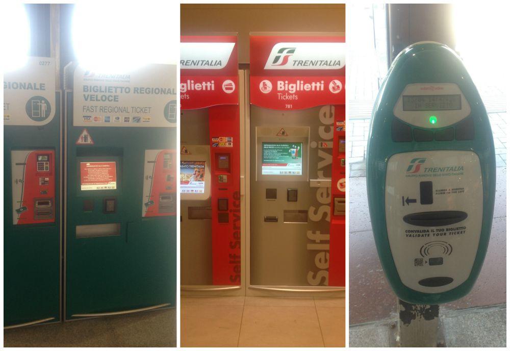 TrenItalia ticket machines - validate your ticket