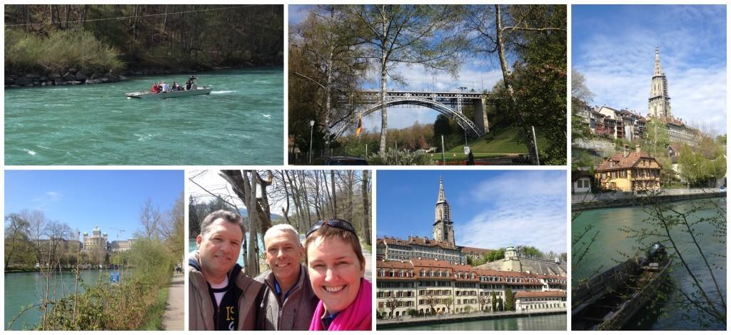 Aare river in Bern Switzerland