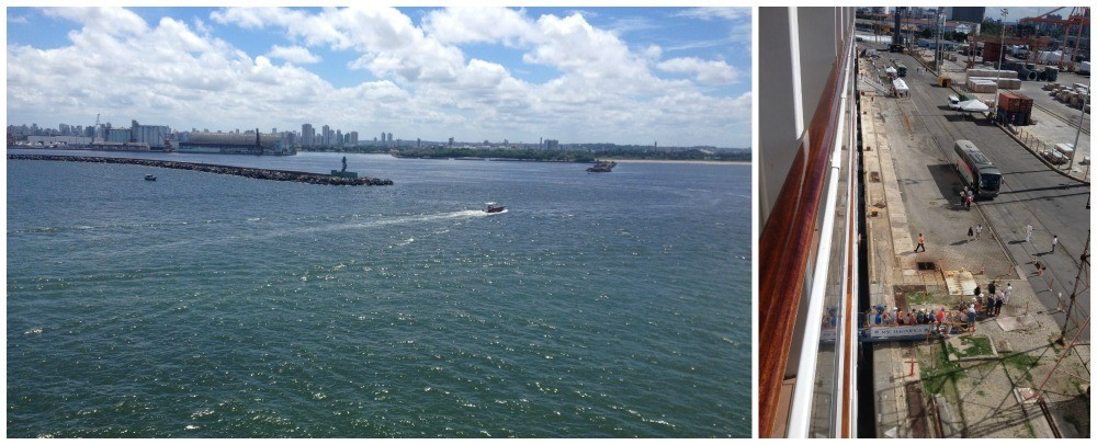 Arriving in Recife at the port