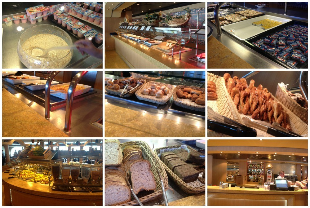 Breakfast buffet on MSC Magnifica 2015