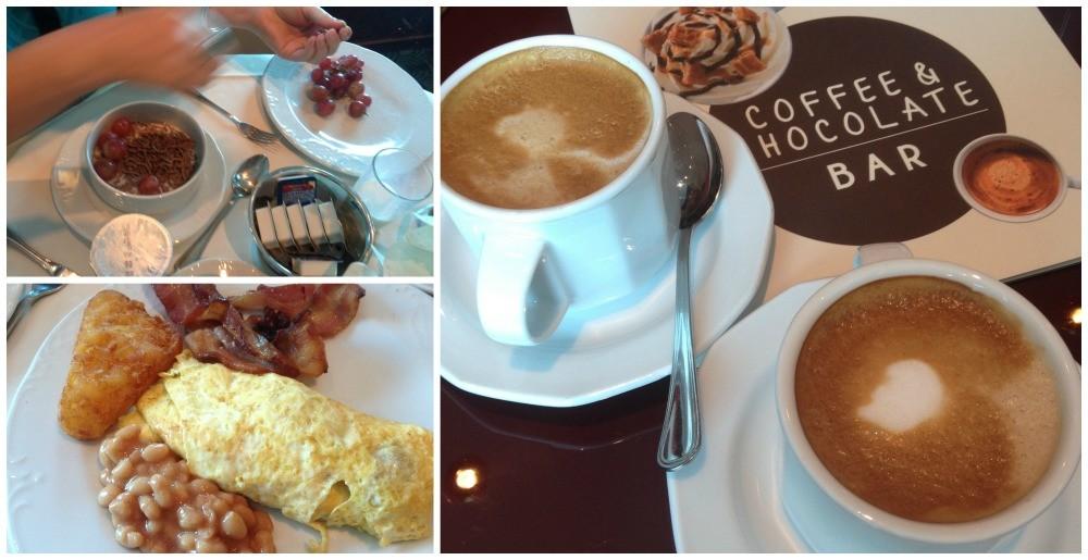 Breakfast followed by coffee