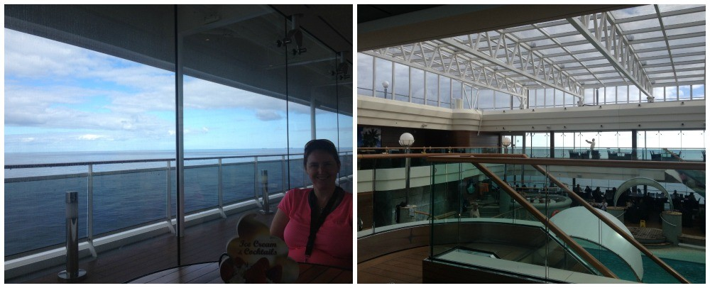 Covered pool area on MSC Magnifica