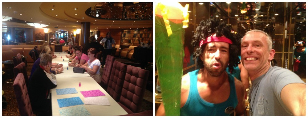 Craft class on MSC Magnifica, crazy man in the lift..