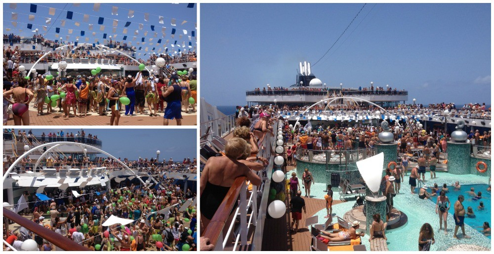 Crossing the Equator ceremony on MSC Magnifica 2015