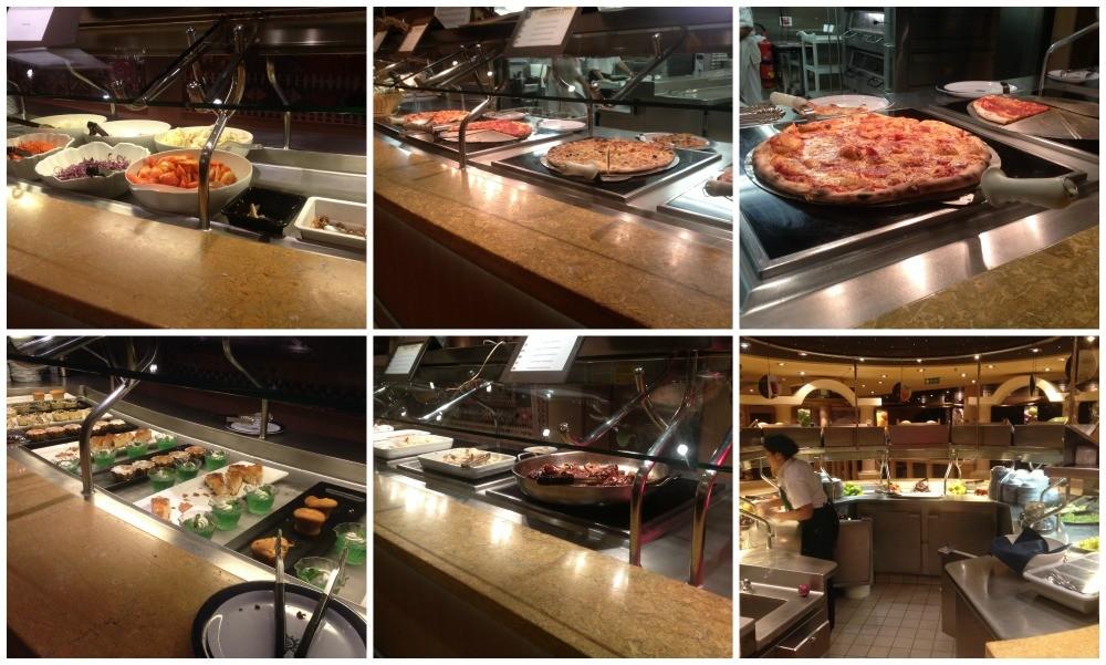 Dinner buffet on MSC Magnifica 2015