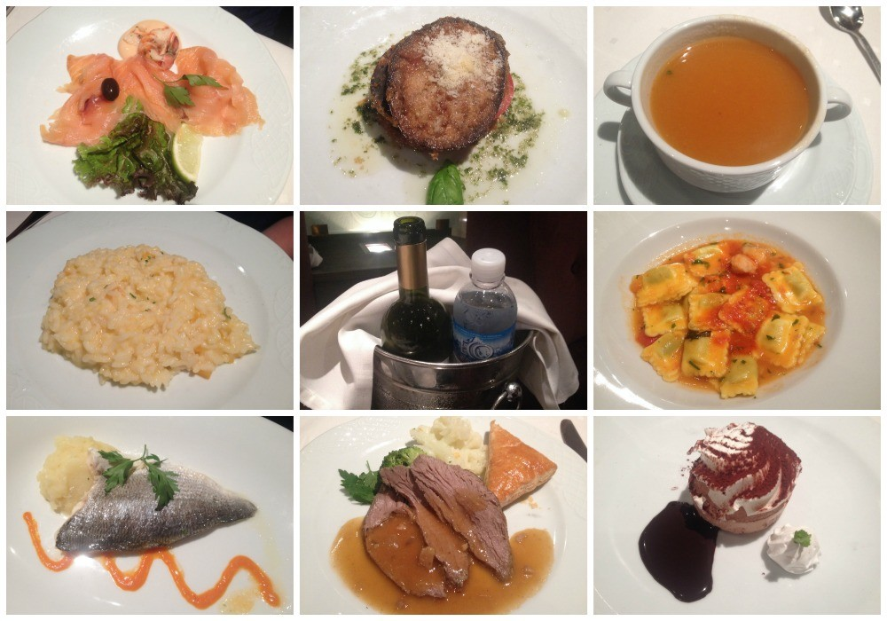 Dinner in Quattro Venti restaurant on MSC Magnifica