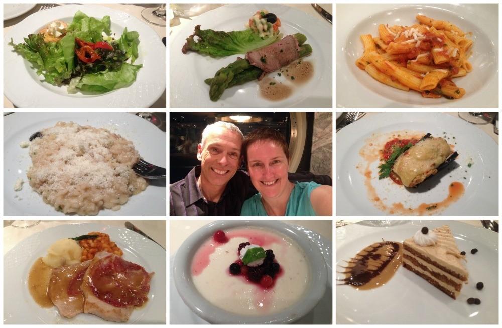 Dinner meals on MSC Magnifica 2015
