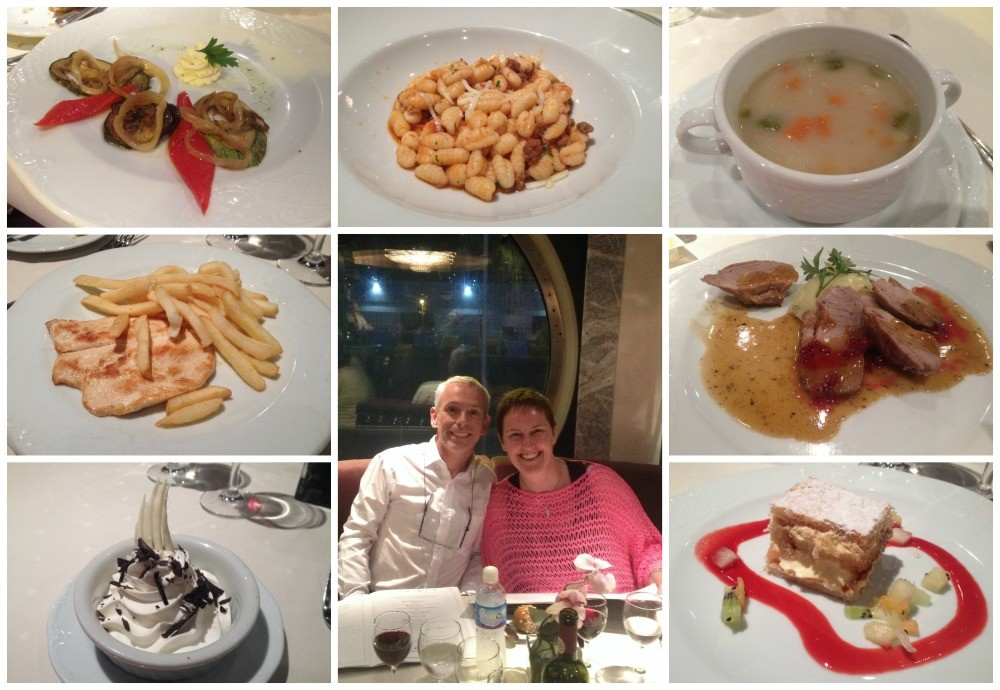 Dinner meals on MSC Magnifica 28 March 2015