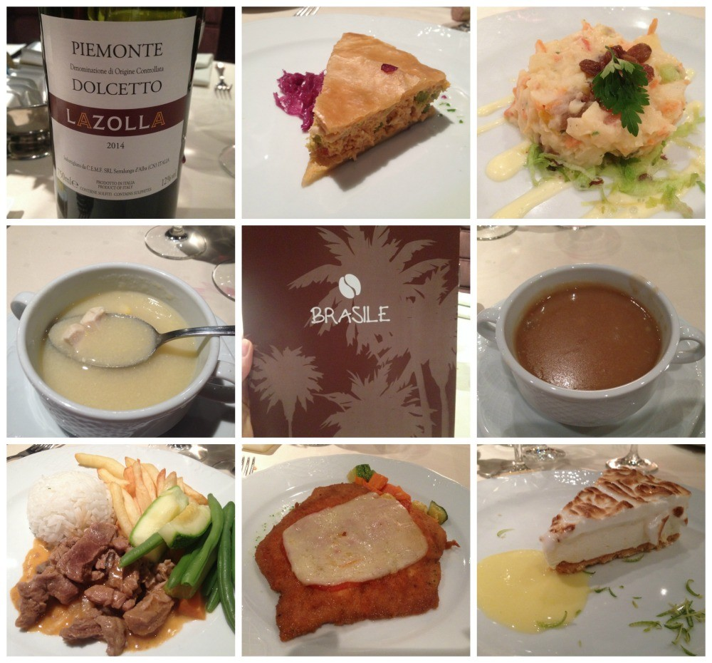 Dinner meals selection MSC Magnifica