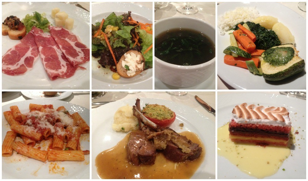 Dinner meals tonight on MSC Magnifica 2015