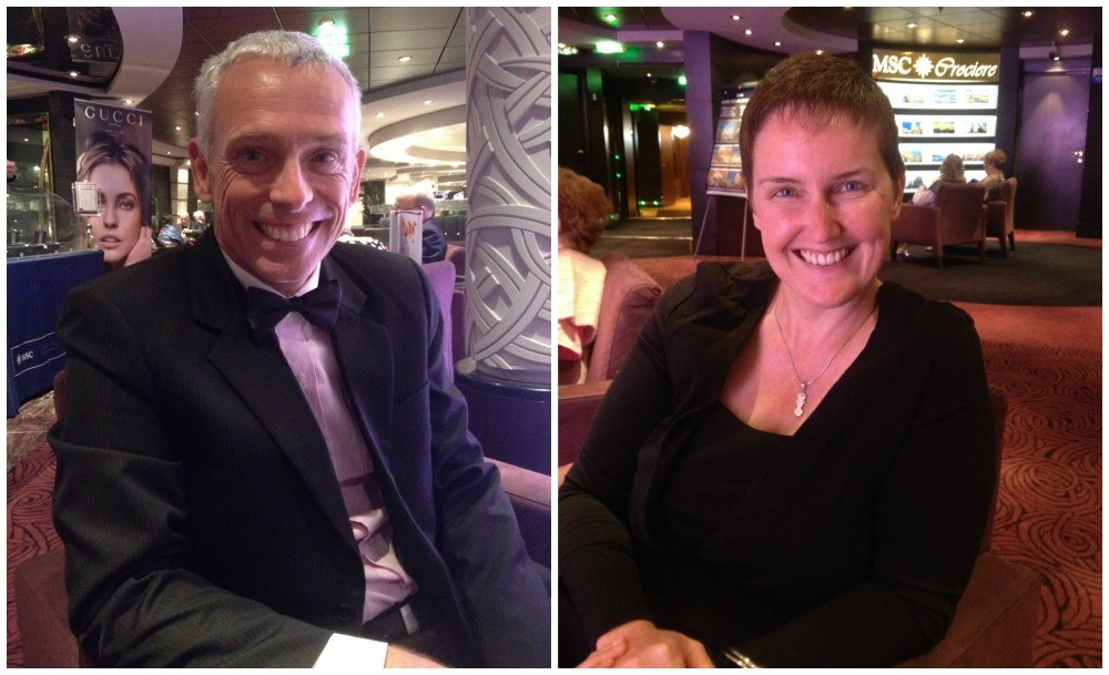 Dressed up for Gala night on MSC Magnifica