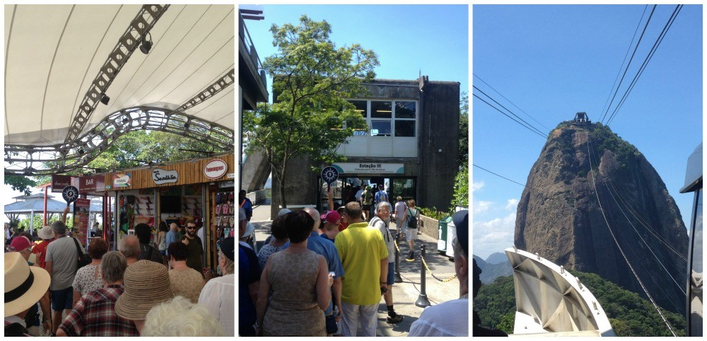 First station souveniers and cafe then on to the top of Sugarloaf Mountain