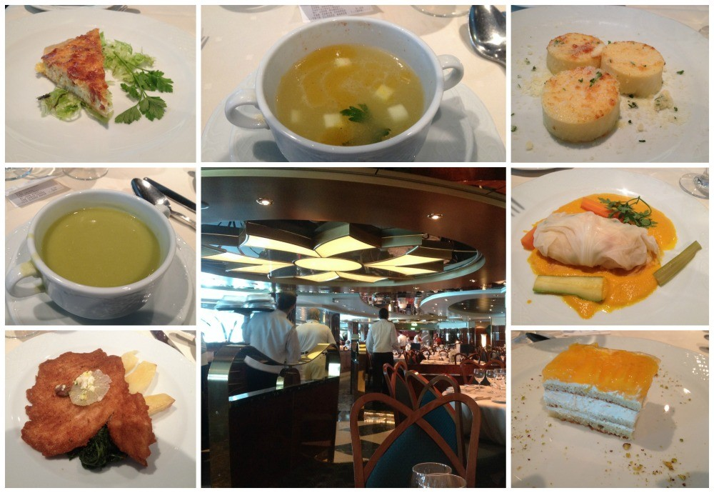 Lunch time meals on MSC Magnifica 2015