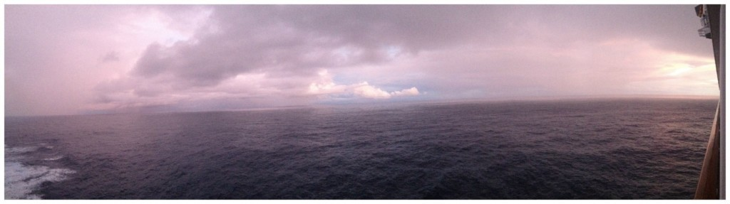 Overcast morning weather at sea