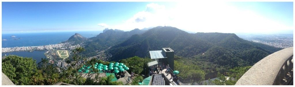 Panorama from Christ statue over cafe & lift