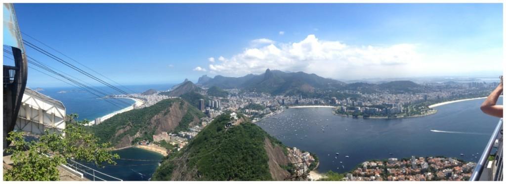 Panorama from Sugarloaf Mountain Rio