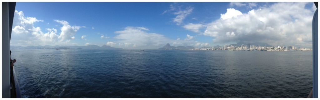 Panorama from the balcony to Rio, Brazil