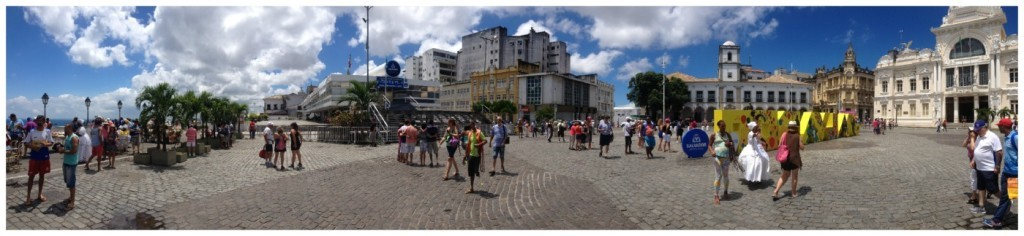 Panorama from the lift area in Salvador