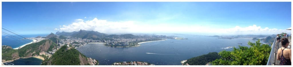 Panorama from top of Sugarloaf Mountain Rio