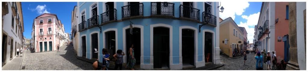 Panorama of the Pelourinho streets
