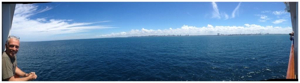 Panorama to Recife, Northern Brazil