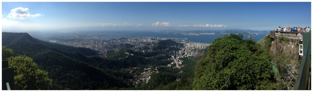 Panorama towards viewing point at Christ statue