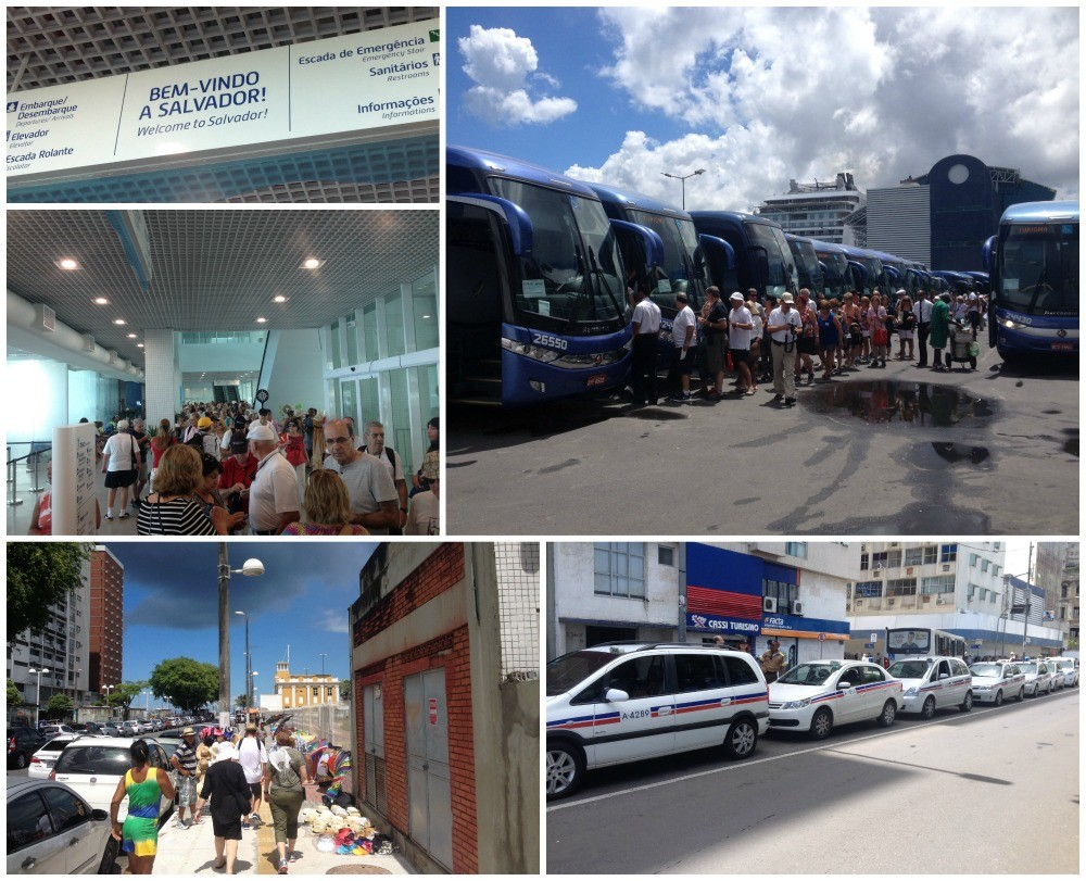 Salvador, cruise passengers take bus tours or private taxis or they walk
