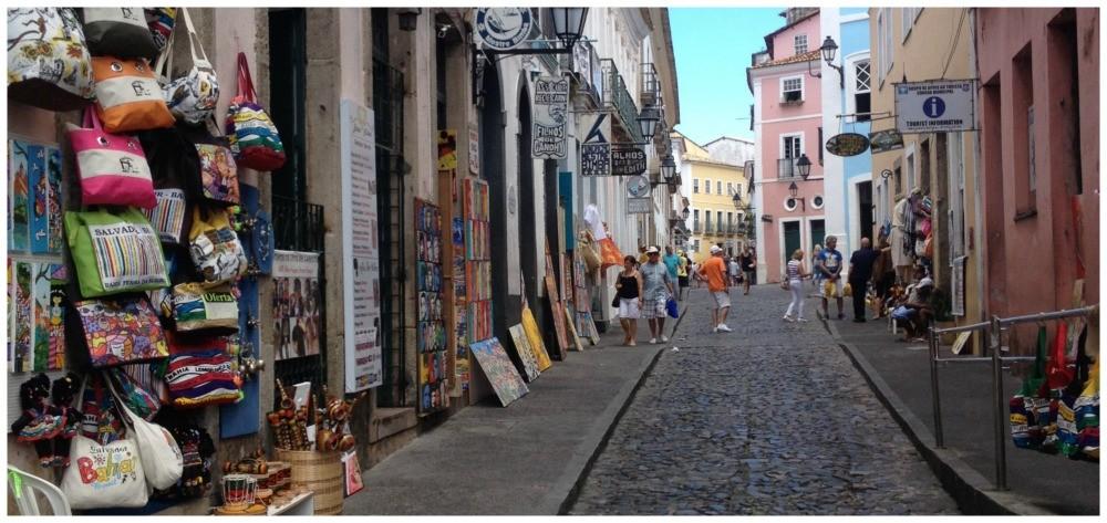 Salvador streets in Pelourinho