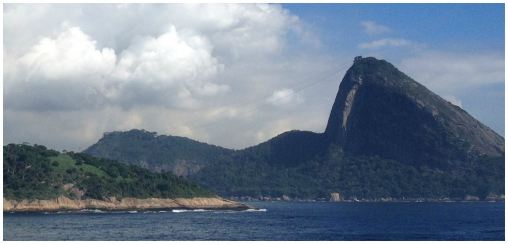 Sugarloaf Mountain in Rio from a distance