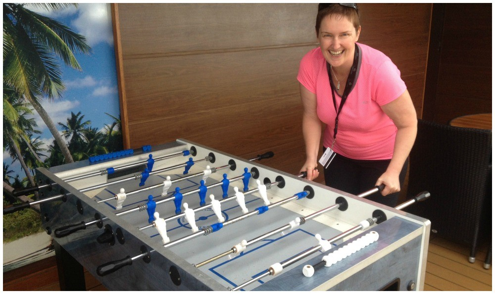 Table footbal on MSC Magnifica