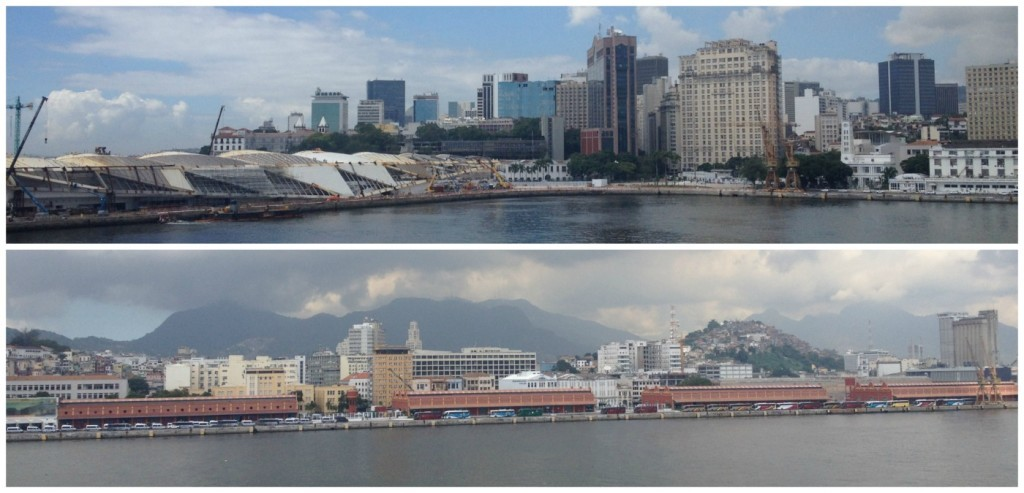 The cruise port of Rio, Brazil 2015