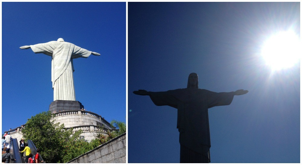 The first glimpse of Christ the Redeemer statue