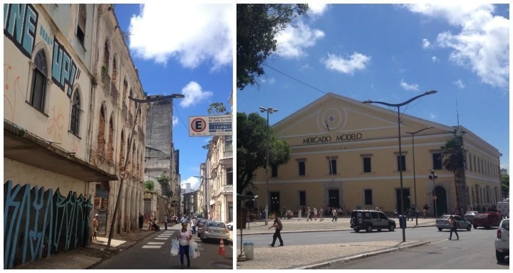 The rundown streets down by the port and the Modelo Market (Mercado Modelo) Salvador