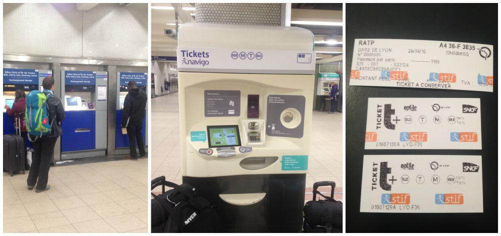 Ticket machines in Paris station