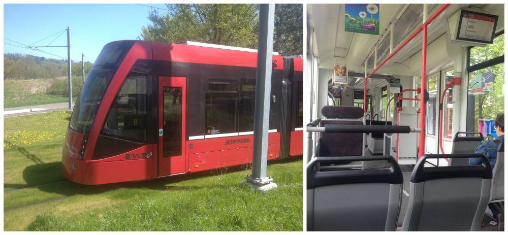 Trams in Bern Switzerland