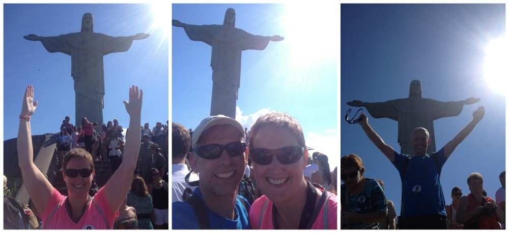 Us and the world famous Christ the redeemer statue in Rio 2015