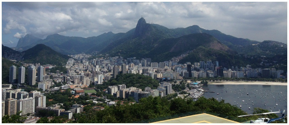 View towards the Christ statue in Rio