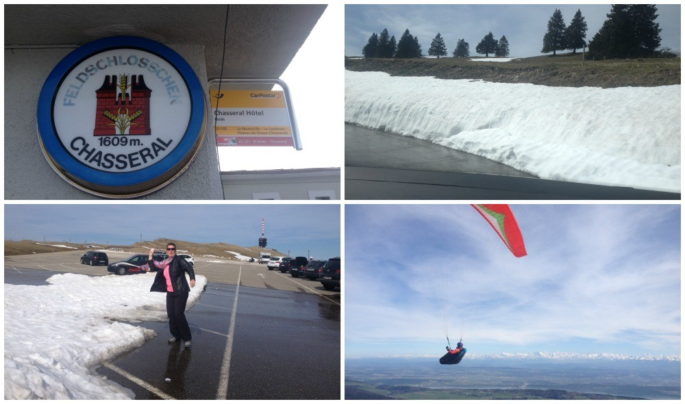 Views from Chasseral mountain in Switzerland at 1609 meters