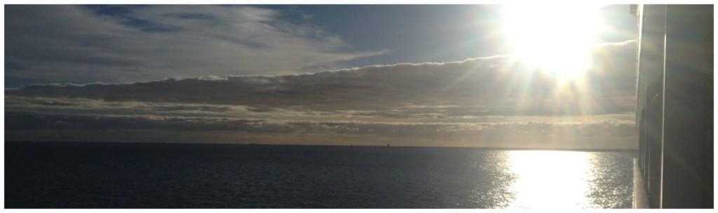 Wake up to views like this at sea