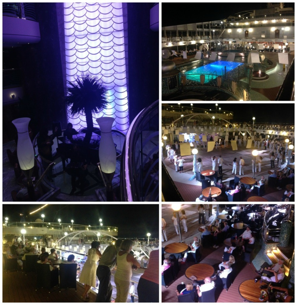 White themed party on MSC Magnifica