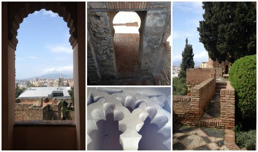 Alcazaba architecture in Malaga 2015