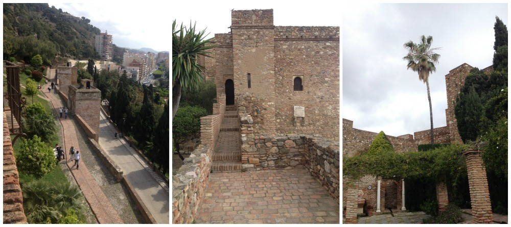 Alcazaba fortress in Malaga 2015