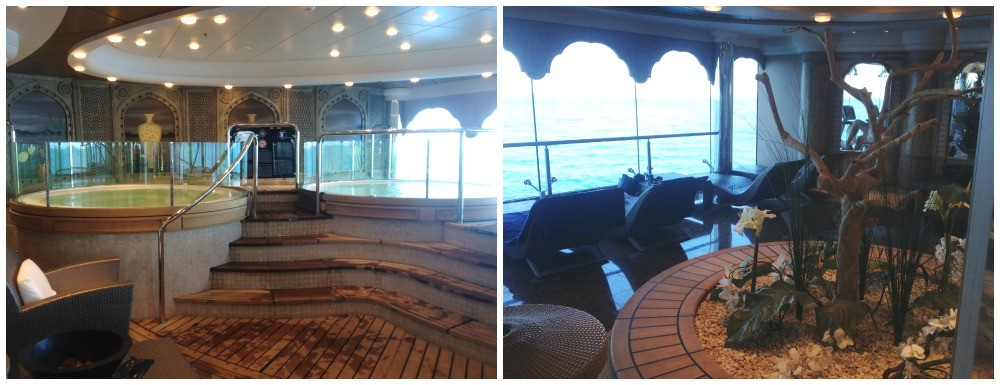 Aurea Spa whirlpools and relaxing room on MSC Magnifica