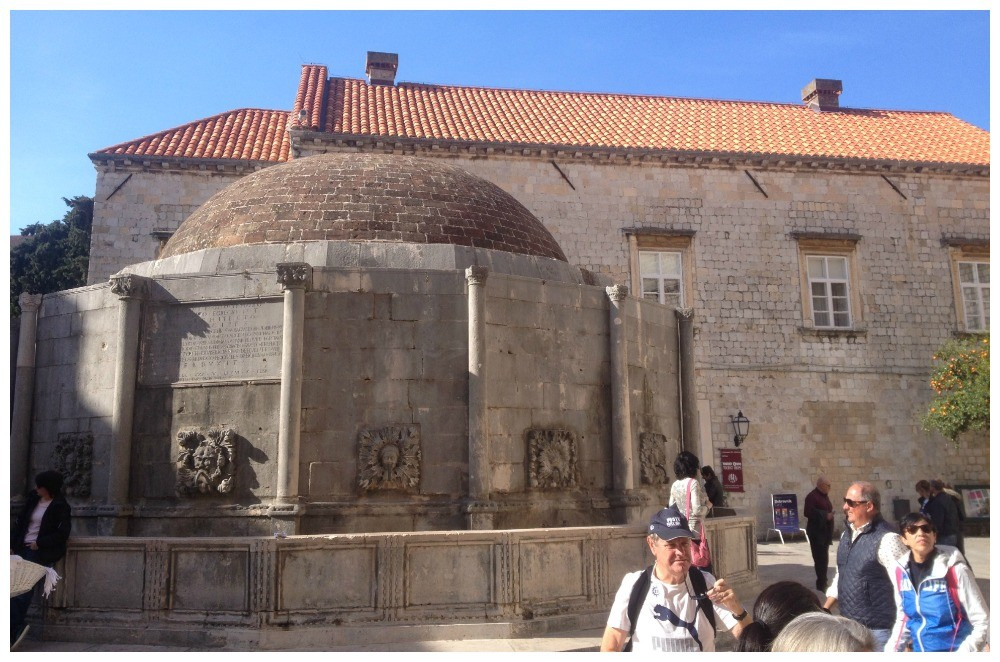 Big Onofrio's Fountain in Dubrovnik Old City 2015