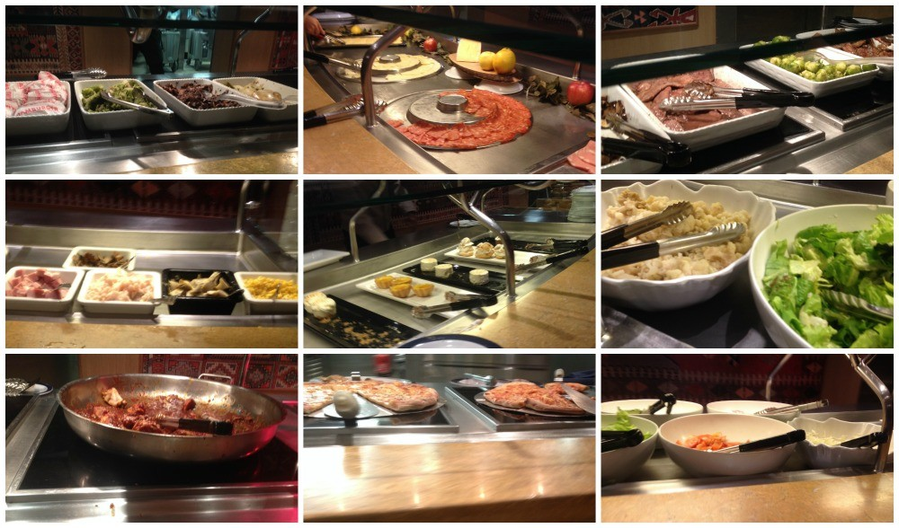 Buffet food images on MSC Magnifica 2015