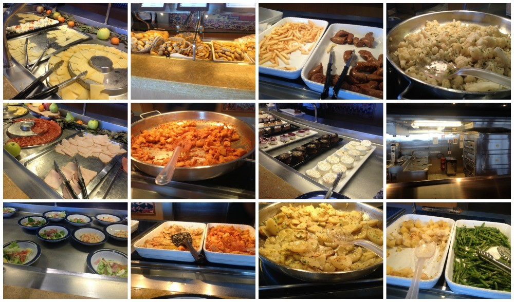 Buffet lunch selection MSC Magnifica 2015